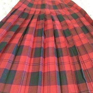Vintage Nordstrom gallery tartan skirt